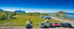 Camping-Steigen
